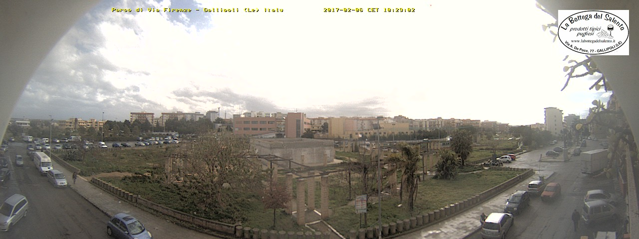 webcam parco via Firenze - puntamento E